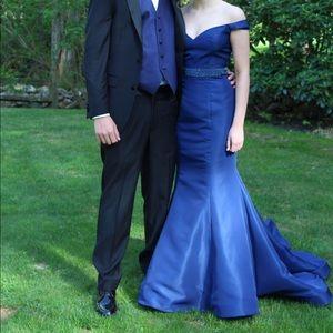Sherri Hill size 2 navy mermaid prom dress